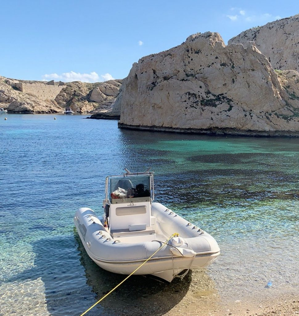 Rigid-hulled inflatable boat (Capelli Tempest 530; Stewart) at JJ Boat Rental Marseille