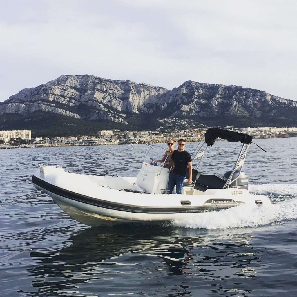 Rigid-hulled inflatable boat (Capelli Tempest 626; Nino) - JJ Boat Rental Marseille